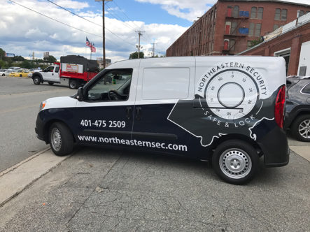 Northeastern Security Van Drivers Side