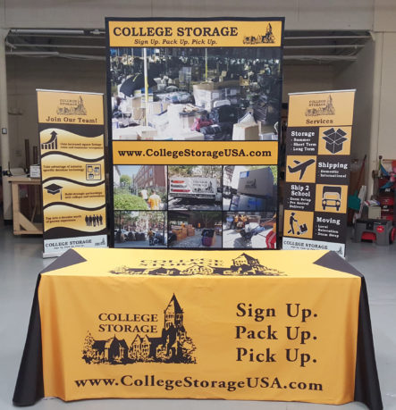 College Storage Trade Show Display 00