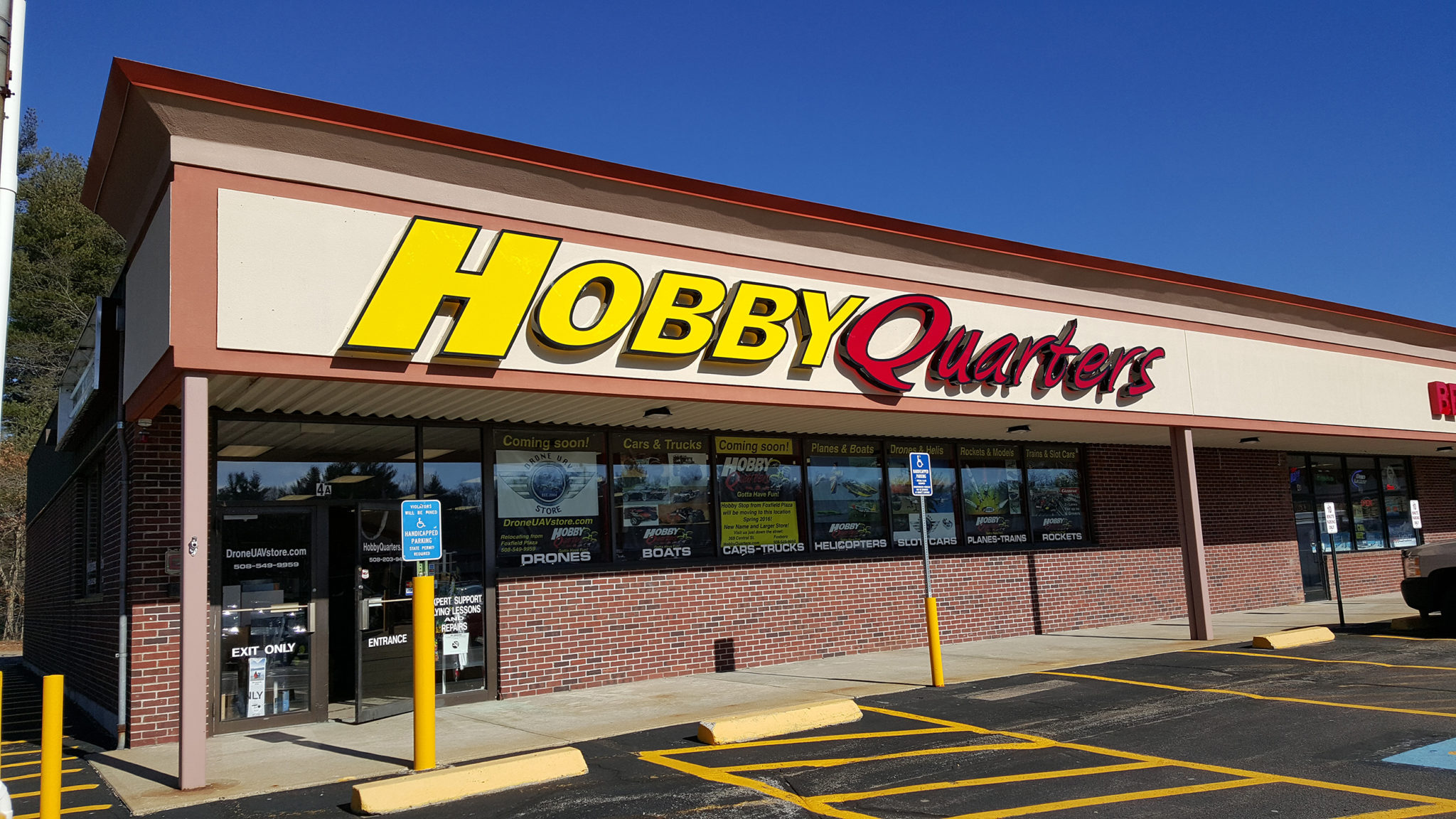 Hobby Quarters Channel Letters in the Day